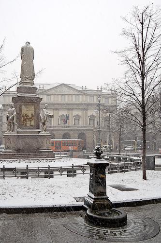 Nieve en Milán